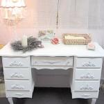 Masywne biurko Vintage