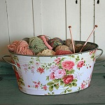 country shabby chic living