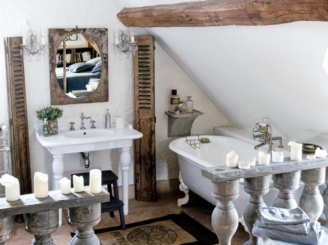 łazienka W Stylu Vintage Shabby Chic Vintage